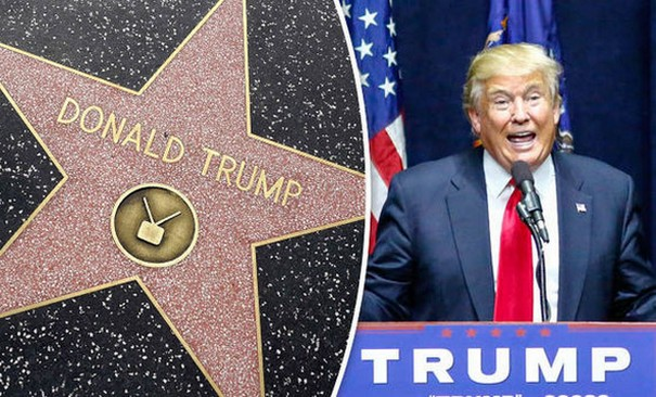 Donald Trump's Hollywood star vandalism