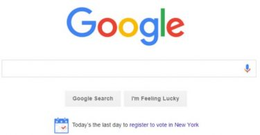 Google voter registration service