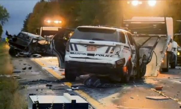Horrific car crash incident in Williston