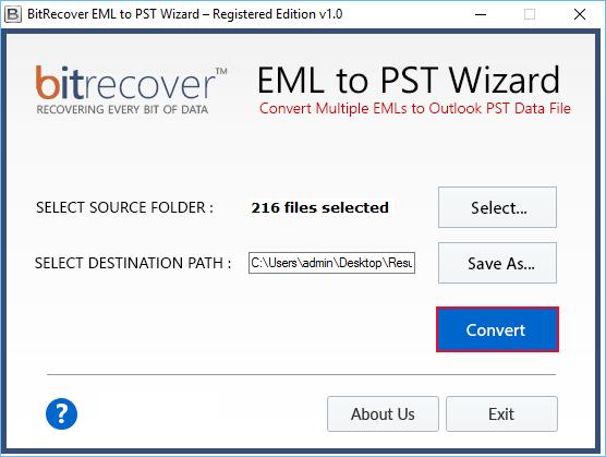 Convert EML to PST