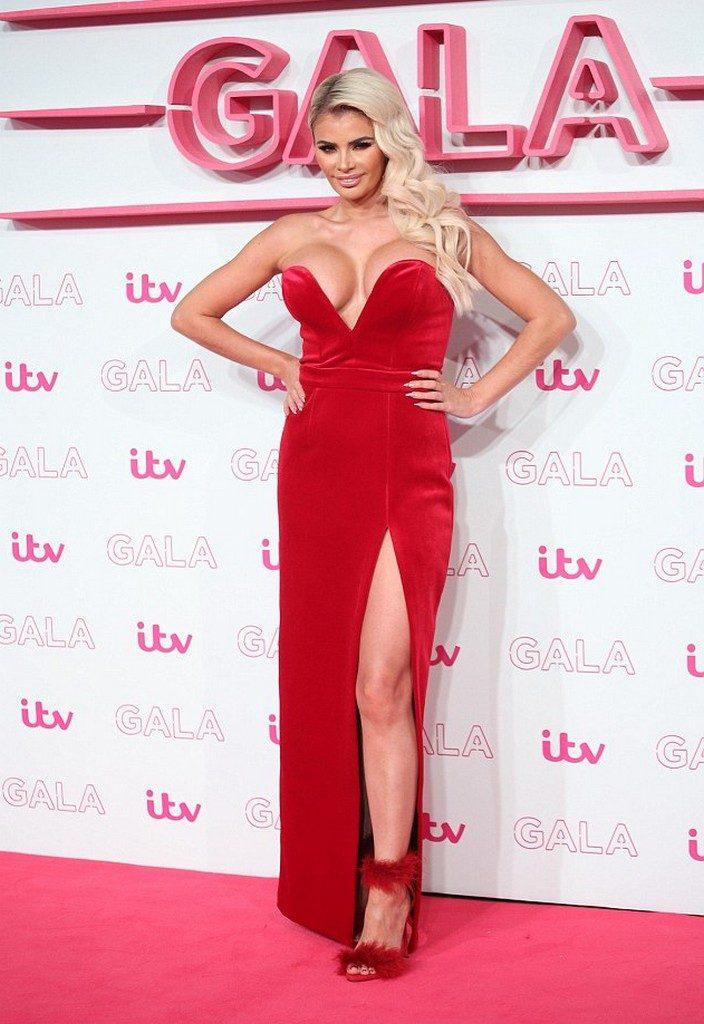 Chloe Sims Nip Slip red dress