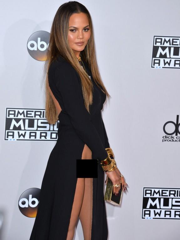 Chrissy Teigen X-rated dress