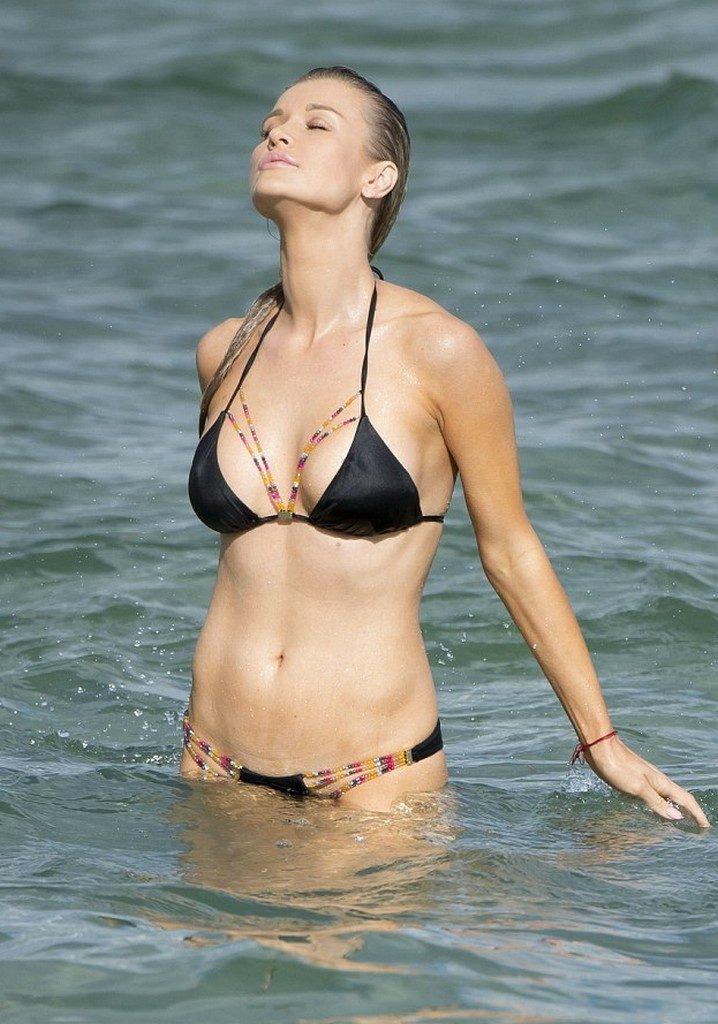Joanna Krupa Beach Bikini Photos in Miami