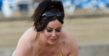 Lisa Appleton Nearly Suffers Wardrobe Malfunction