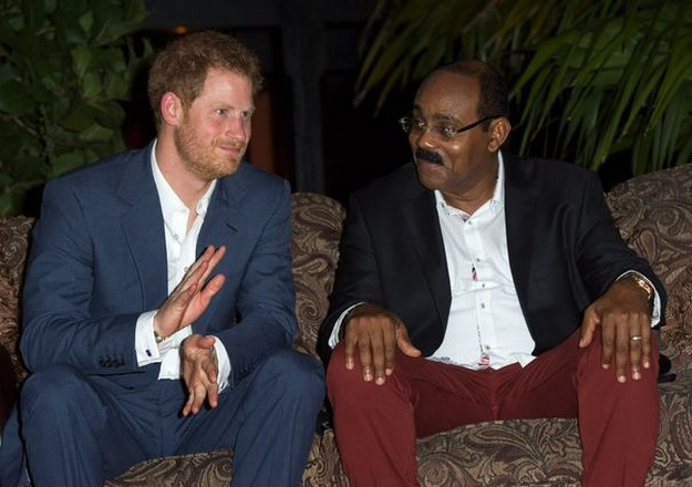 Prince Harry and Antigua PM