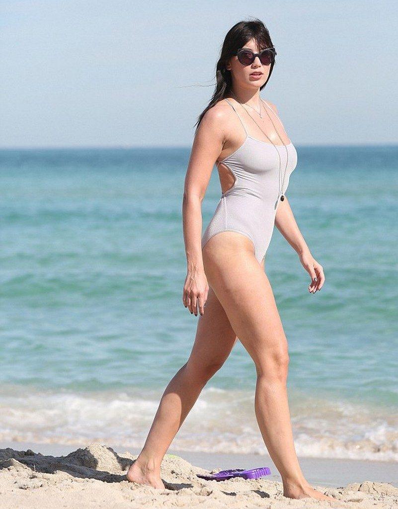 Daisy Lowe bikini in Miami