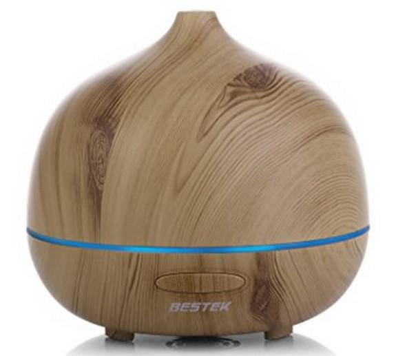 BESTEK 300ml Wood Grain Essential Oil Diffuser